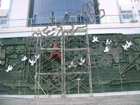 解放军工程学院浮雕墙